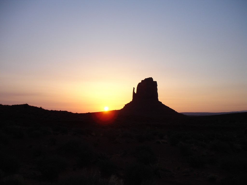 West Mitten Butte at Sunrise