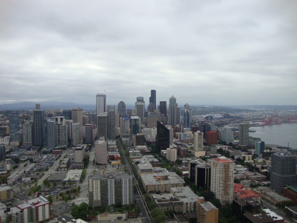 The Downtown Skyline - view from the Space Needle