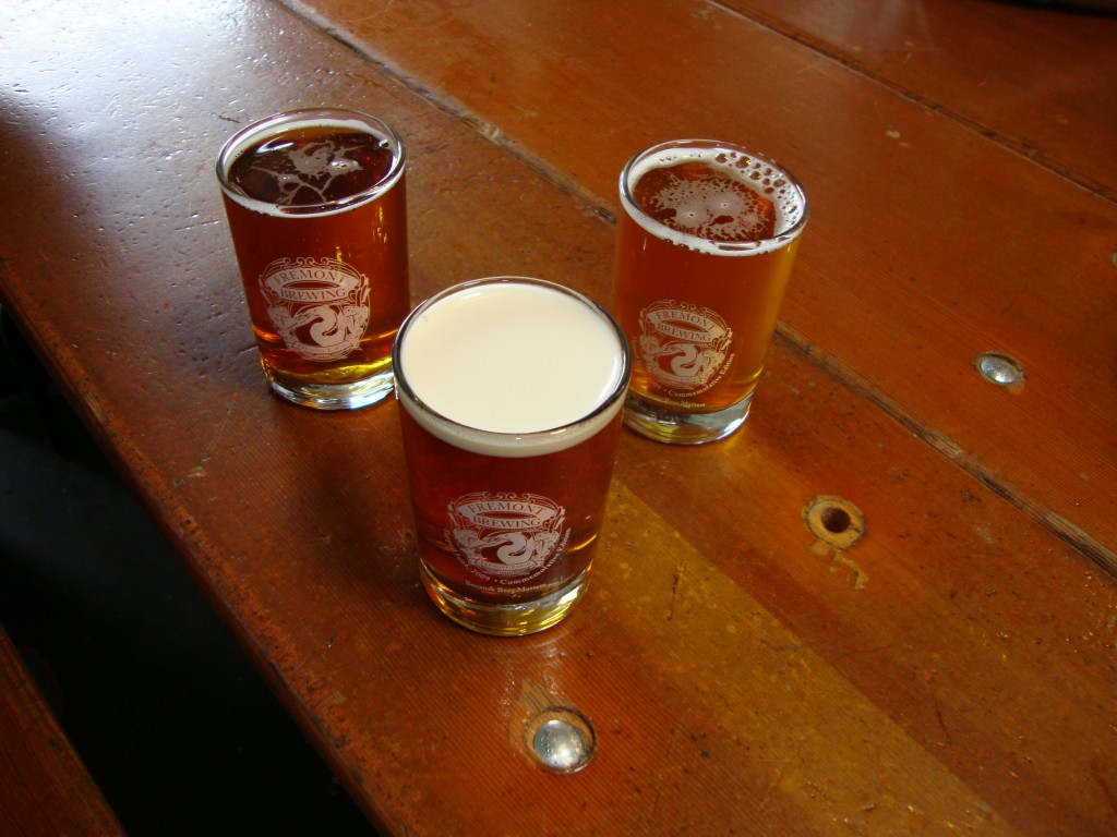 Tasters at Fremont Brewing