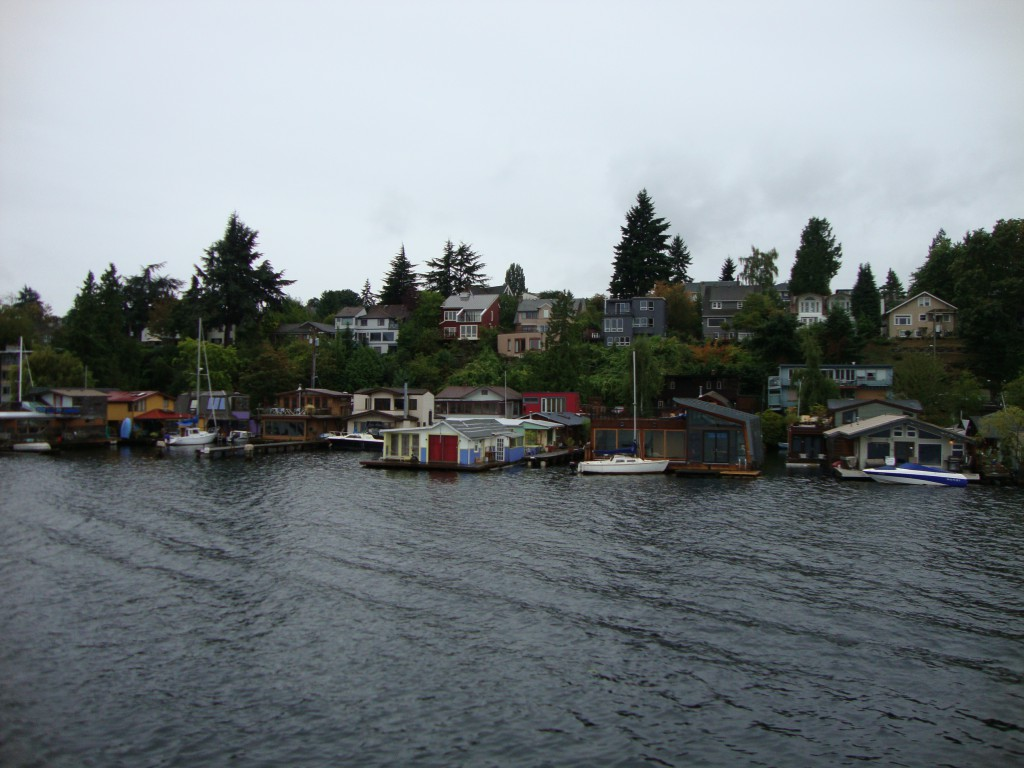 Floating homes at Lake Union