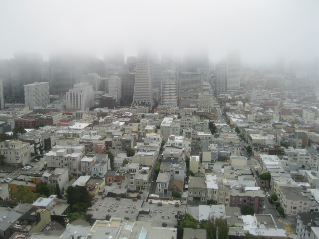 Skyline in the Mist - the view from the Coit Tower