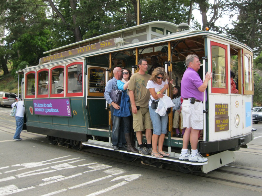 Cable Car on the Powell-Hyde Line