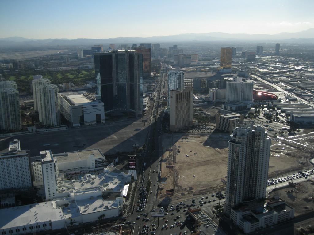 The Strip Skyline taken from the Observation Deck at the Stratosphere