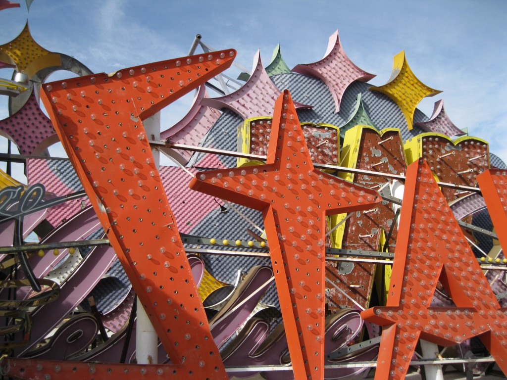 A part of the old sign from the Stardust at the Neon Museum