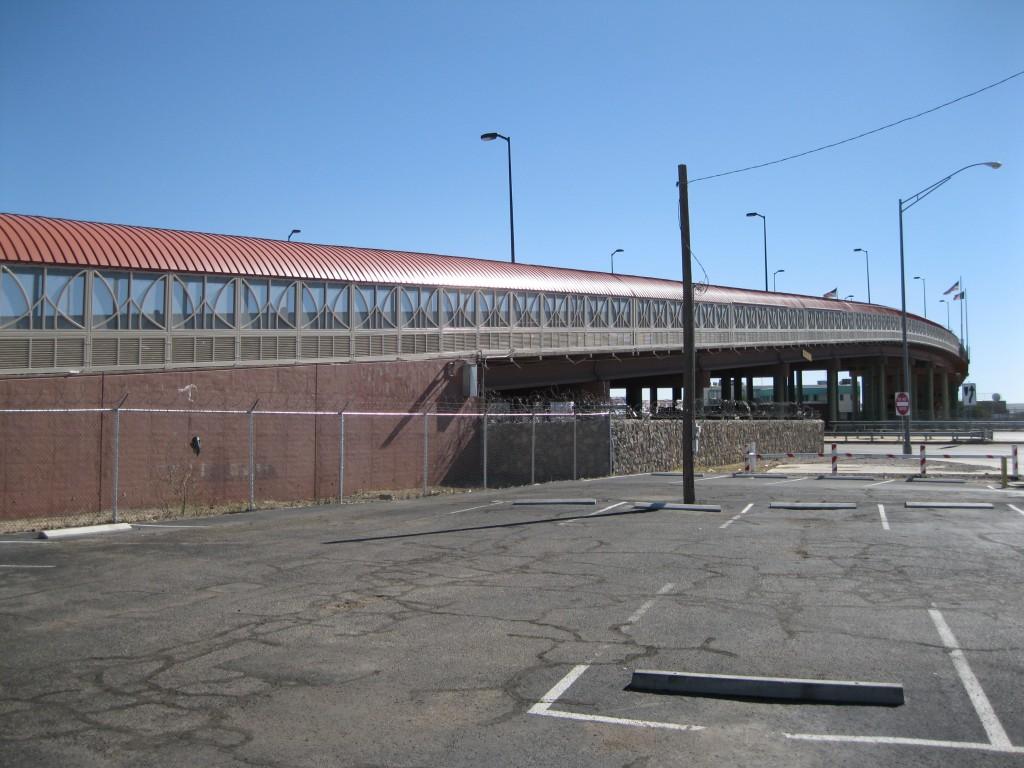The Border Bridge to Mexico at El Paso Street