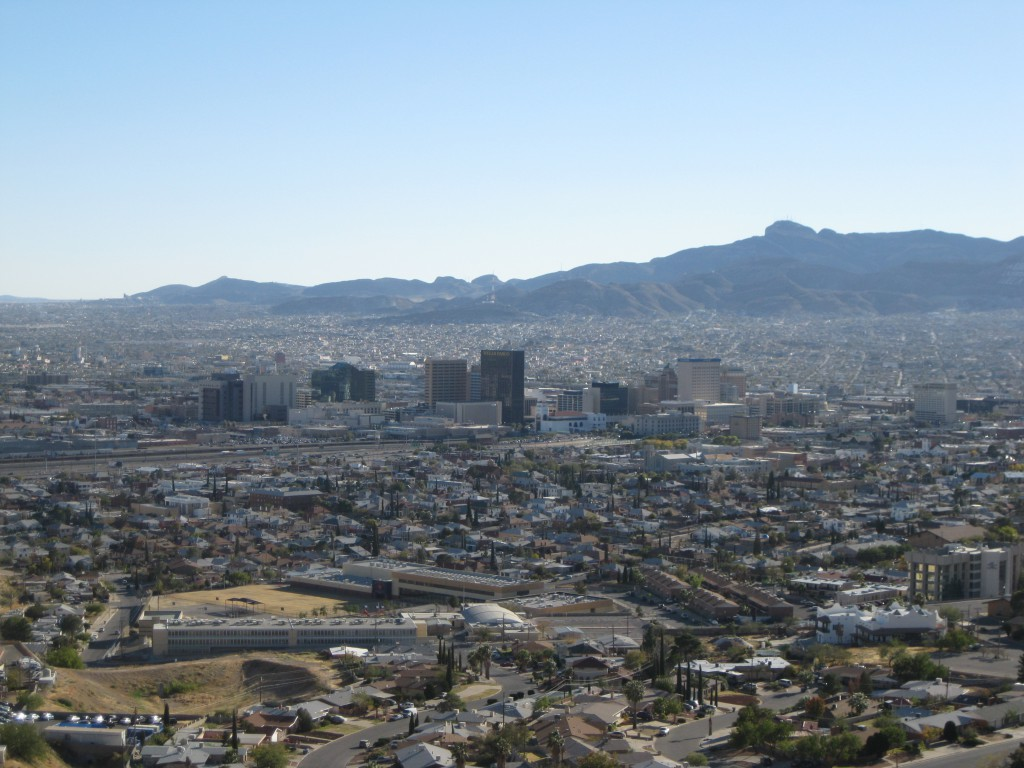 View of the El Paso Skyline from Scenic Drive