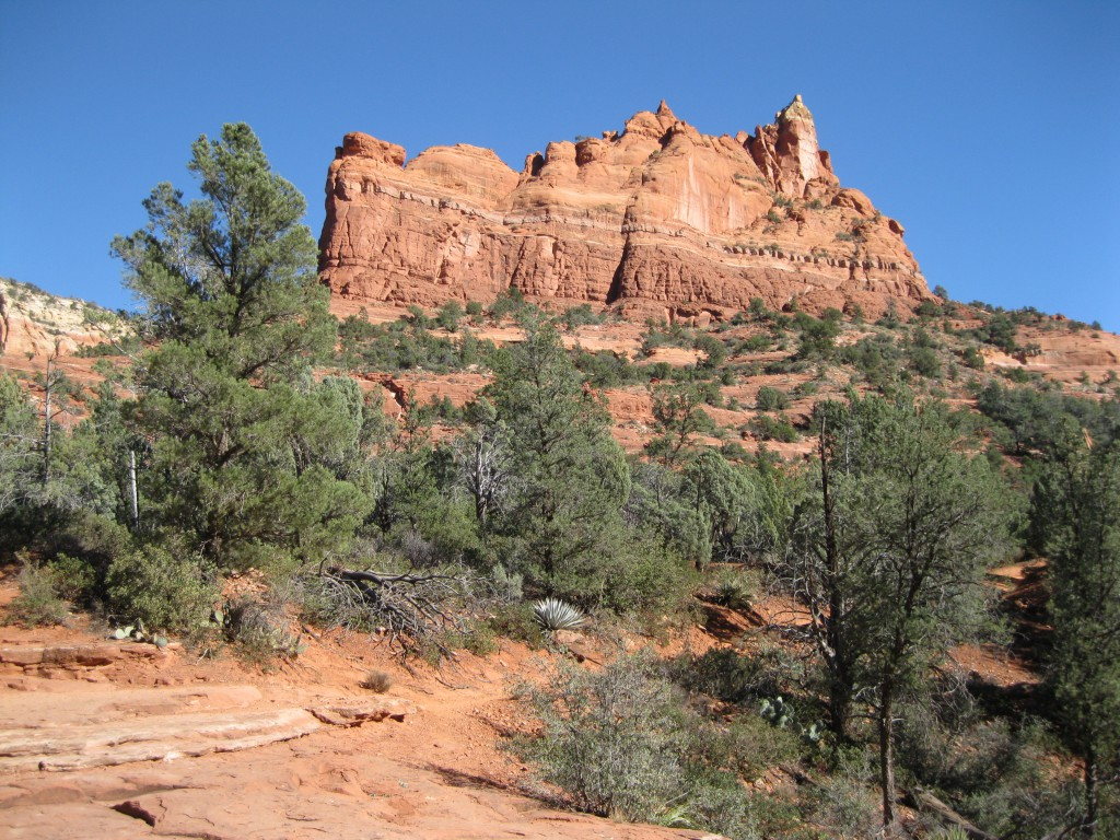 The view of Castle Rock from Apache's Seven Pools