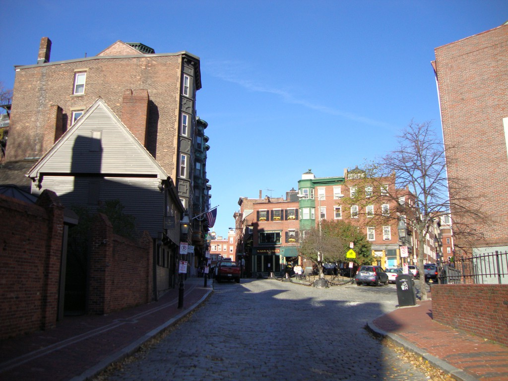The Paul Revere House to the left