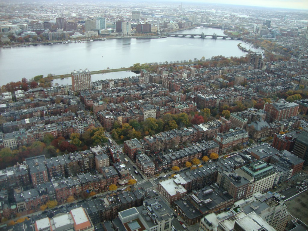 View of Beacon Hill from the Skywalk Observatory in the Prudential Tower