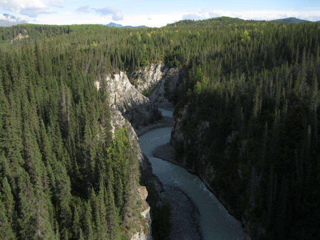 View of the Kuskulana River from the Kuskulana River Bridge