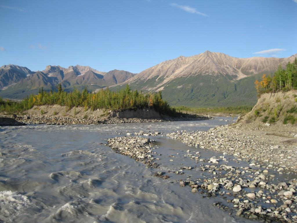 Kennicott River at Root Glacier Base Camp