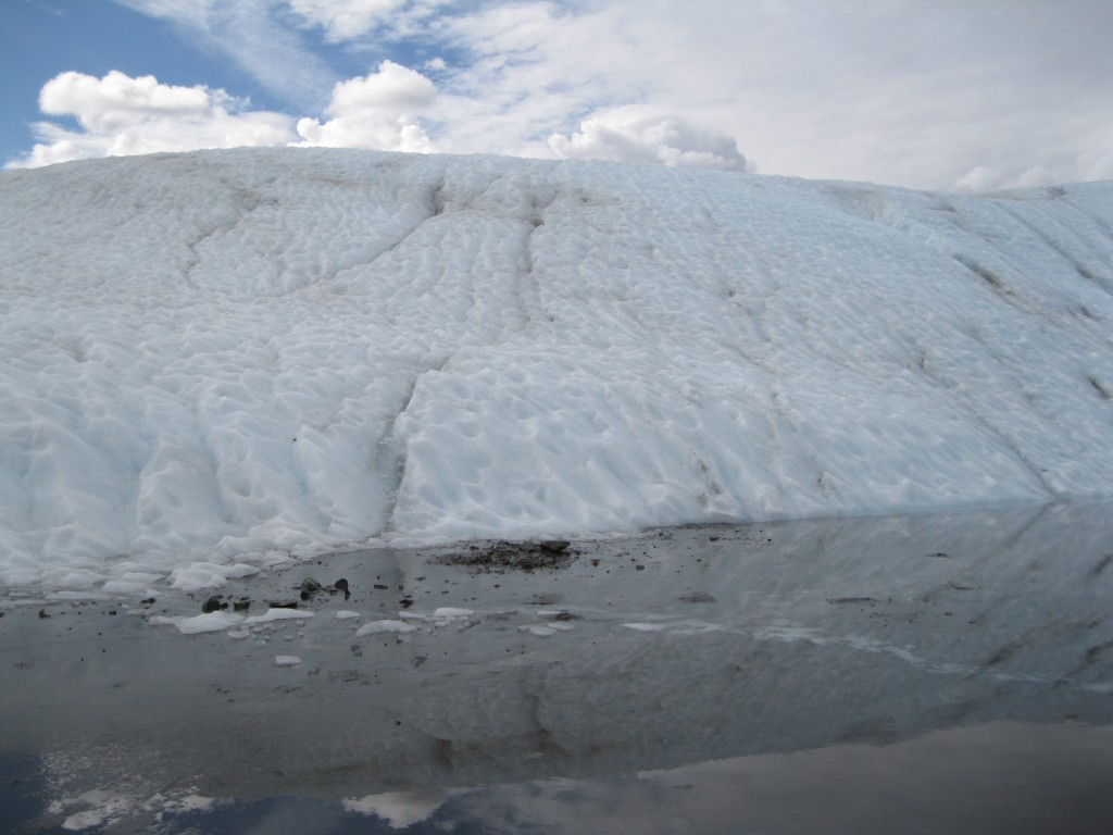 On Root Glacier at an Ice Lake