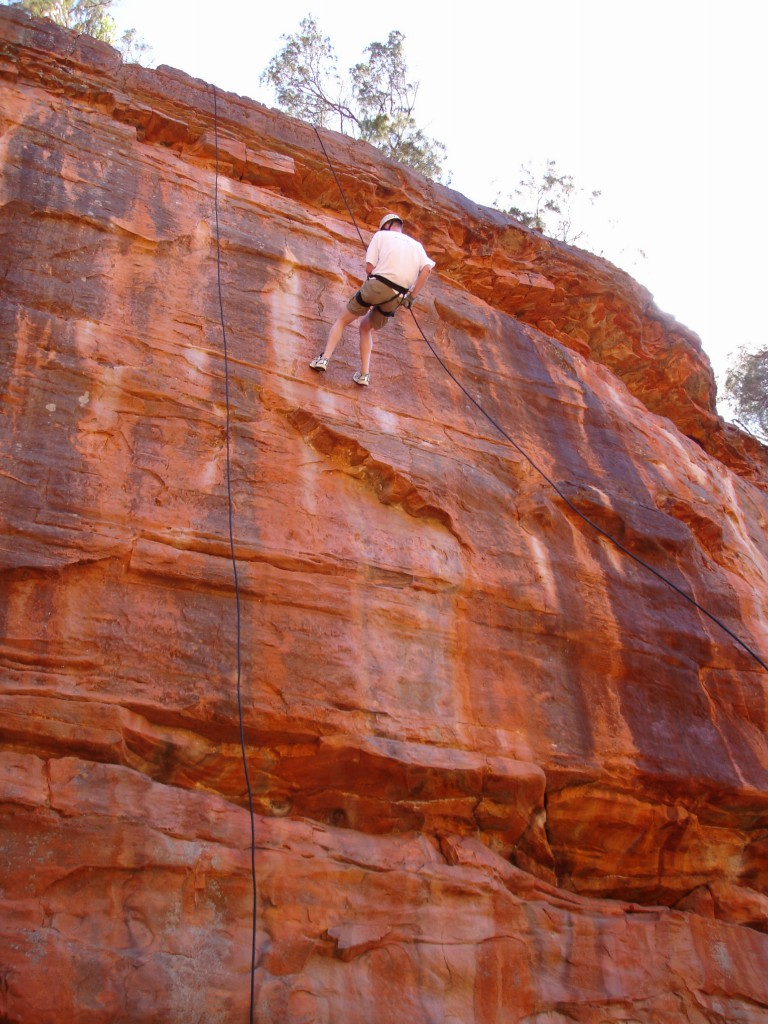 Abseiling in Z-Bend Gorge