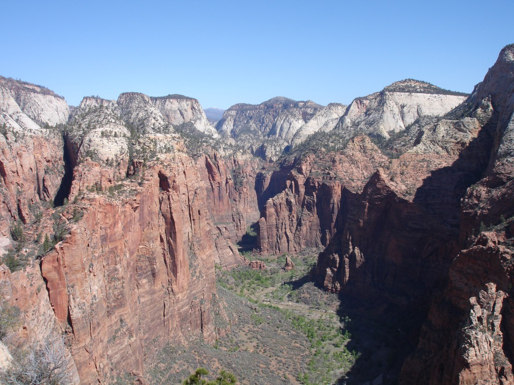 The View from the Summit of Angels Landing Looking North Into Zion Canyon