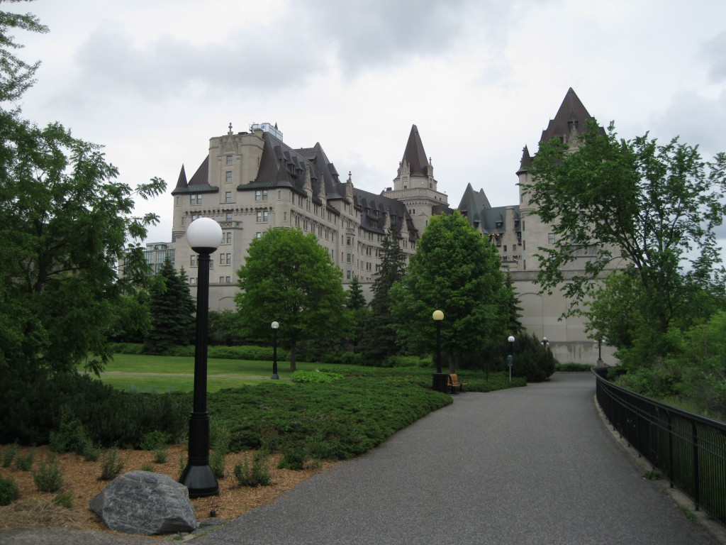 The Major's Hills Park and Chateau Laurier
