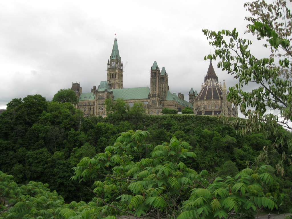 Parliament Hill as seen from Major's Hill Park