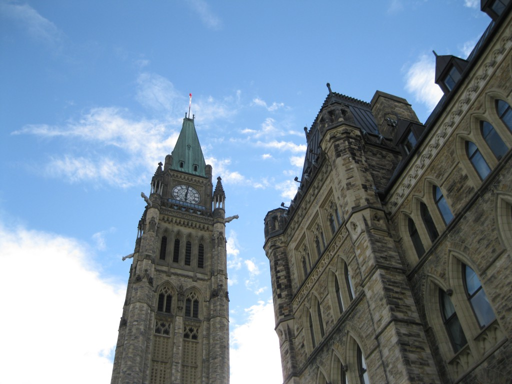 The Peace Tower and the Centre Block