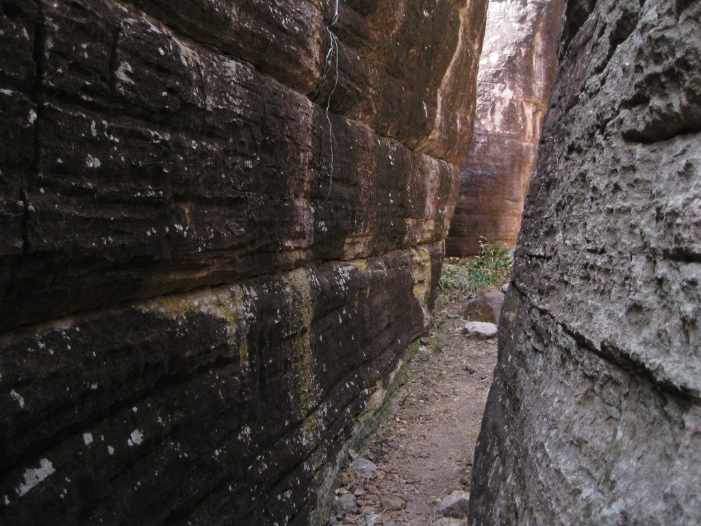 One of the many chasms on Injalak Hill