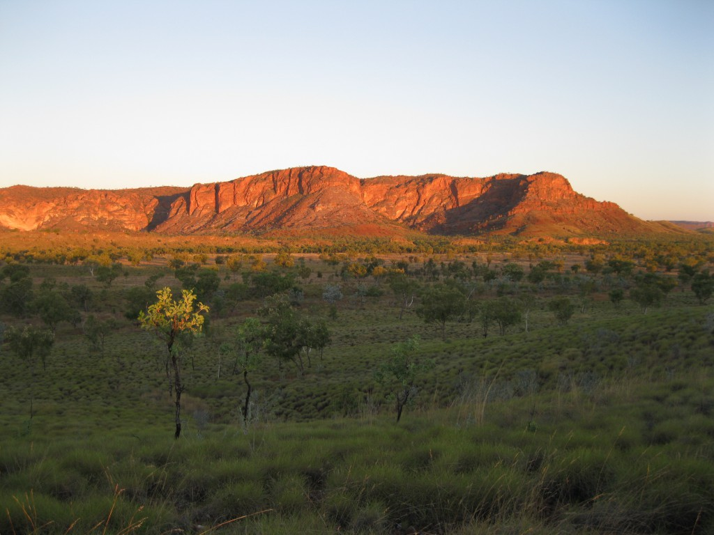 The view of the Bungle Bungle Range at Sunset from Kungkalanyi