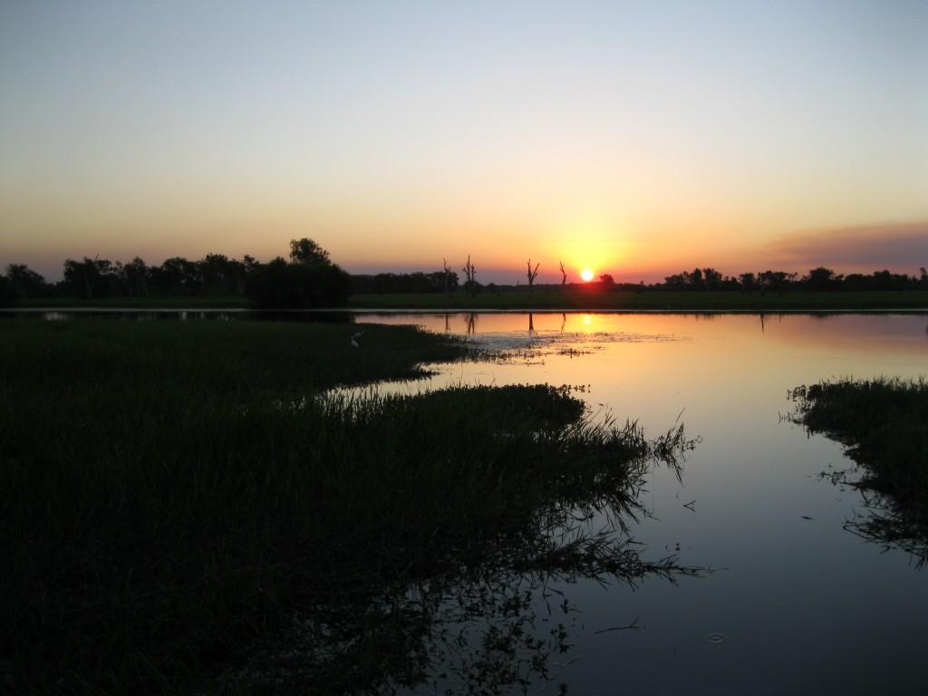 Yellow Water Billabong at Sunset