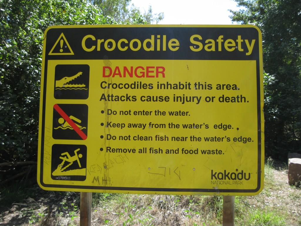 Sign at East Alligator River