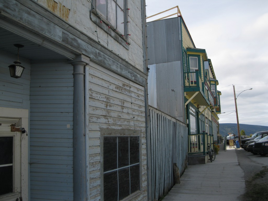 Building Facades and Pavement at Front Street