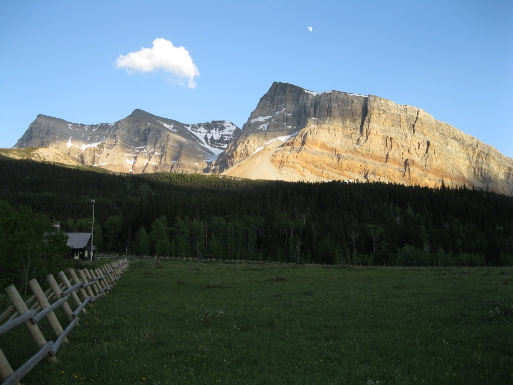 The Belly River Ranger Station and Gable Mountain