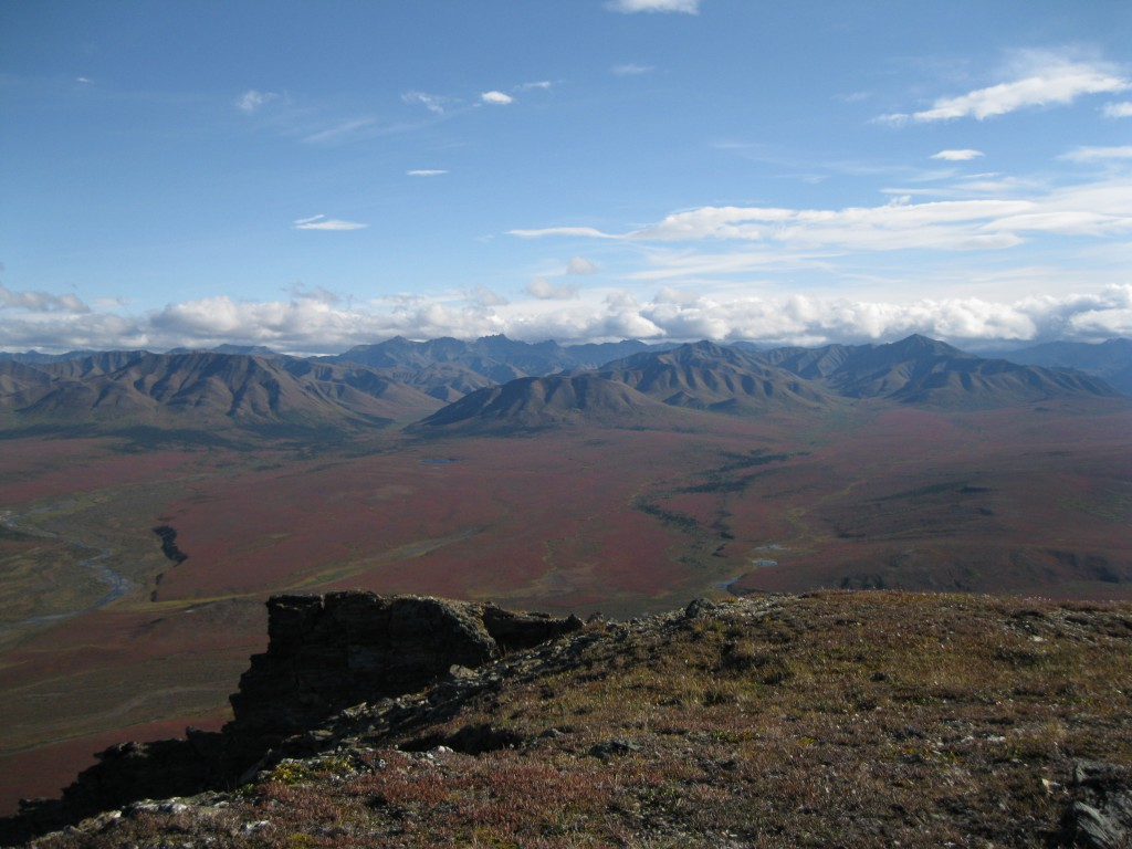 The view of the Alaska Range from Thorofare Ridge