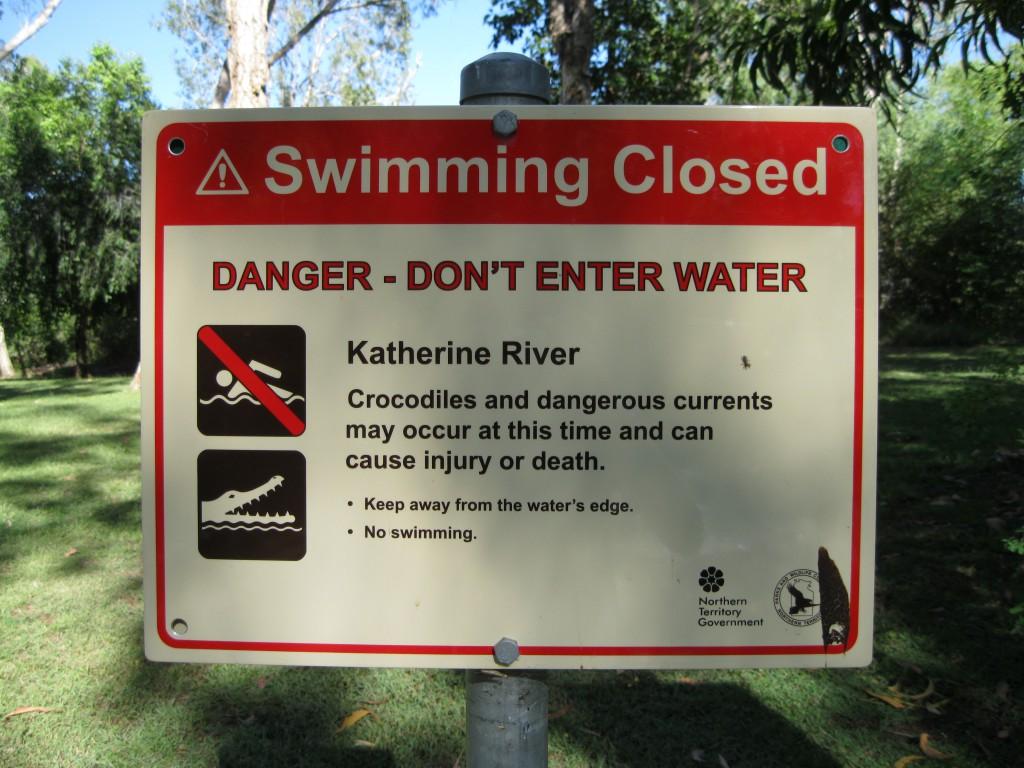 Sign at Katherine River