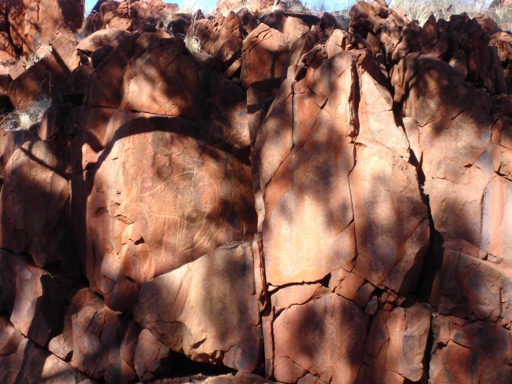 Aboriginal Rock Art at Wanna Munna