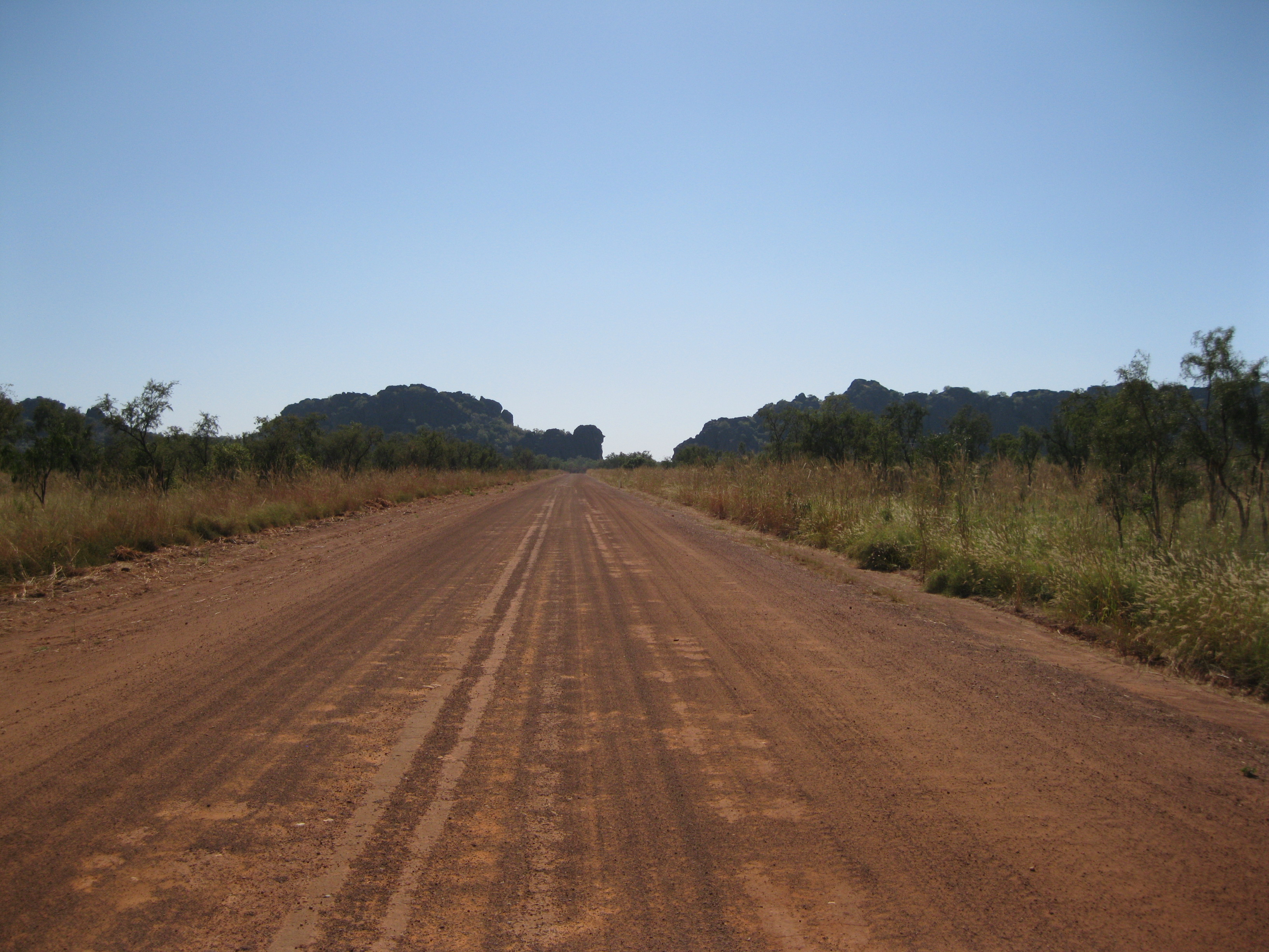 The Gibb River Road with Queen Victoria's Head right at the end of the road
