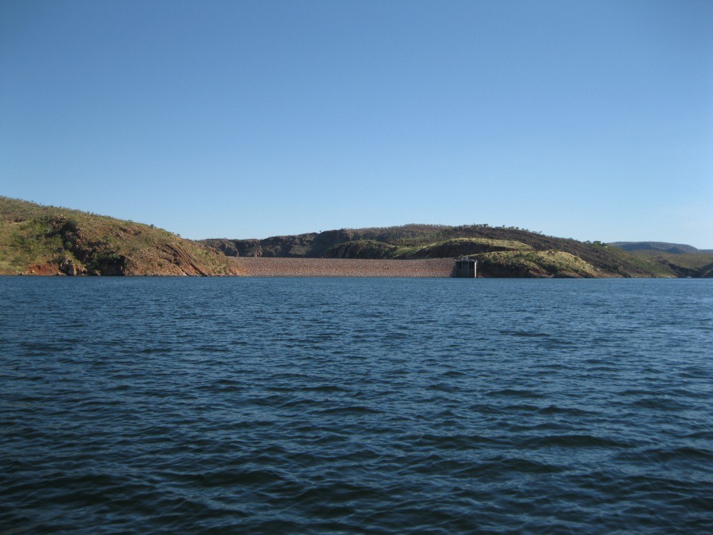 The Ord River Dam in the Distance