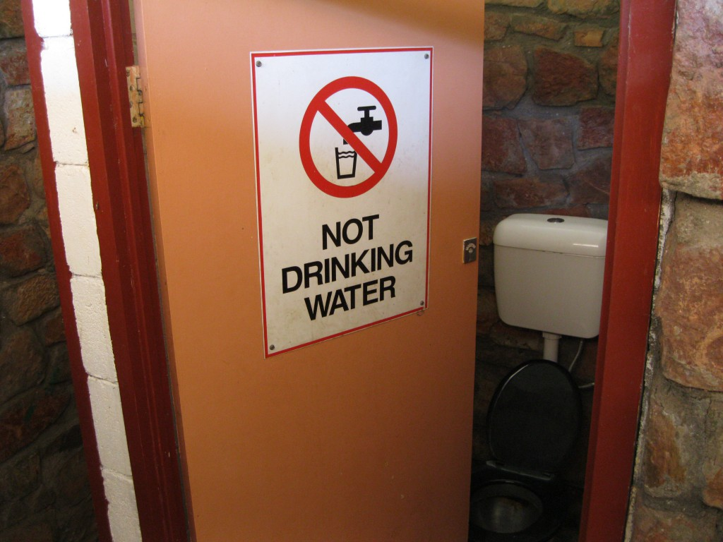 Interesting Warning at one of the Restrooms at Lake Argyle