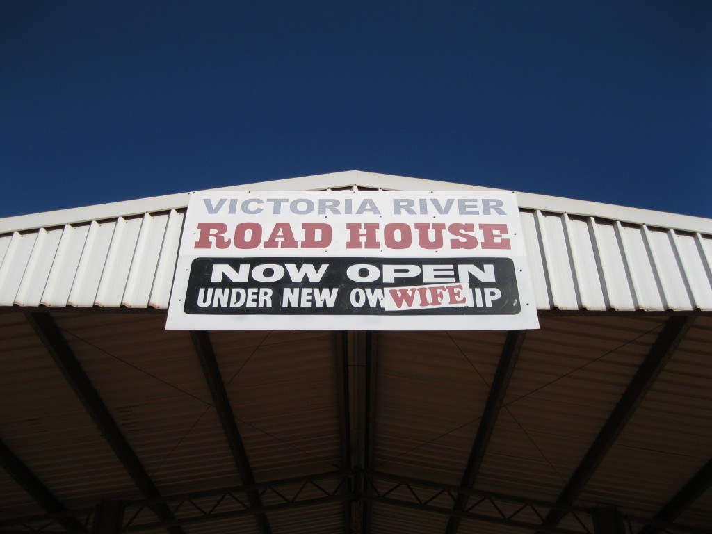 Front sign of the Victoria River Roadhouse