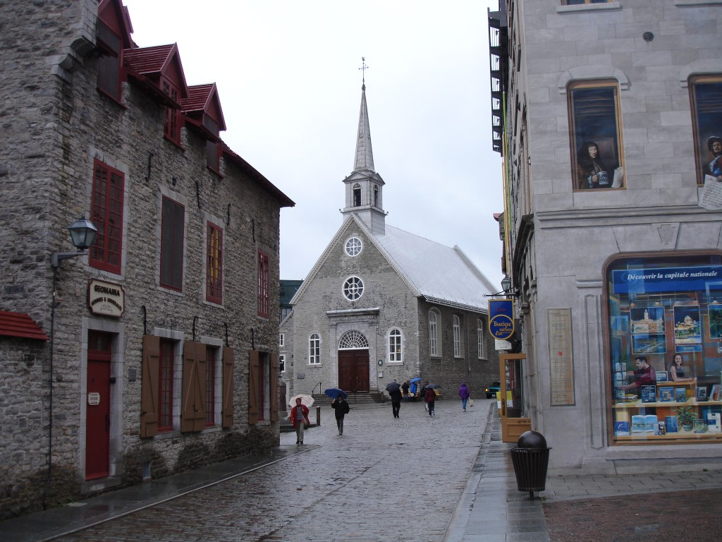 The Notre-Dames-des-Victoires Church in Lower Town of Old Quebec
