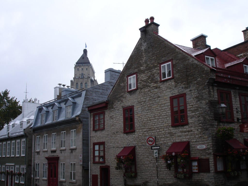 Upper Town in Old Quebec with the Price Building as the backdrop