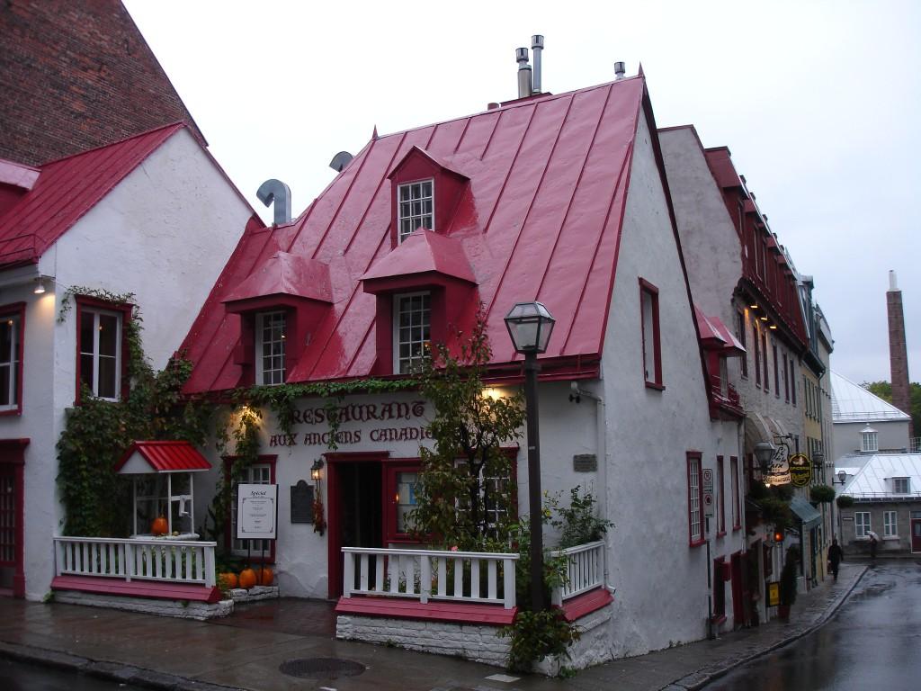 The Maison Jacquet Building operating as Restaurant Aux Anciens Canadiens