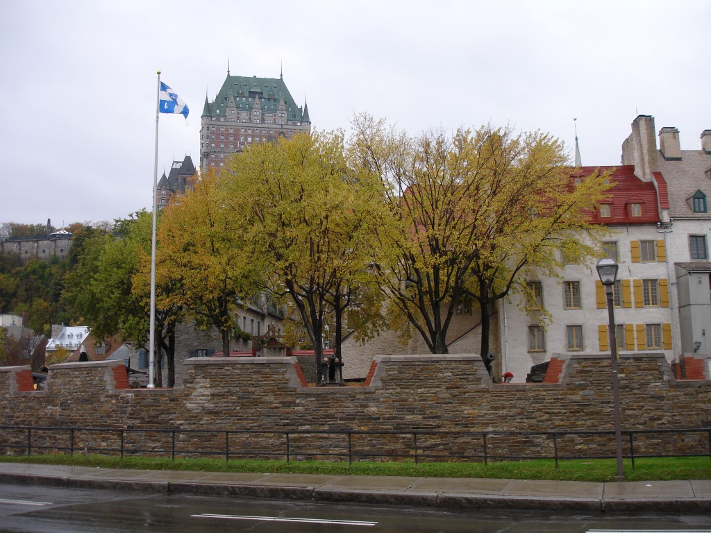 Château Frontenac and Lower Town as seen from rue Dalhousie