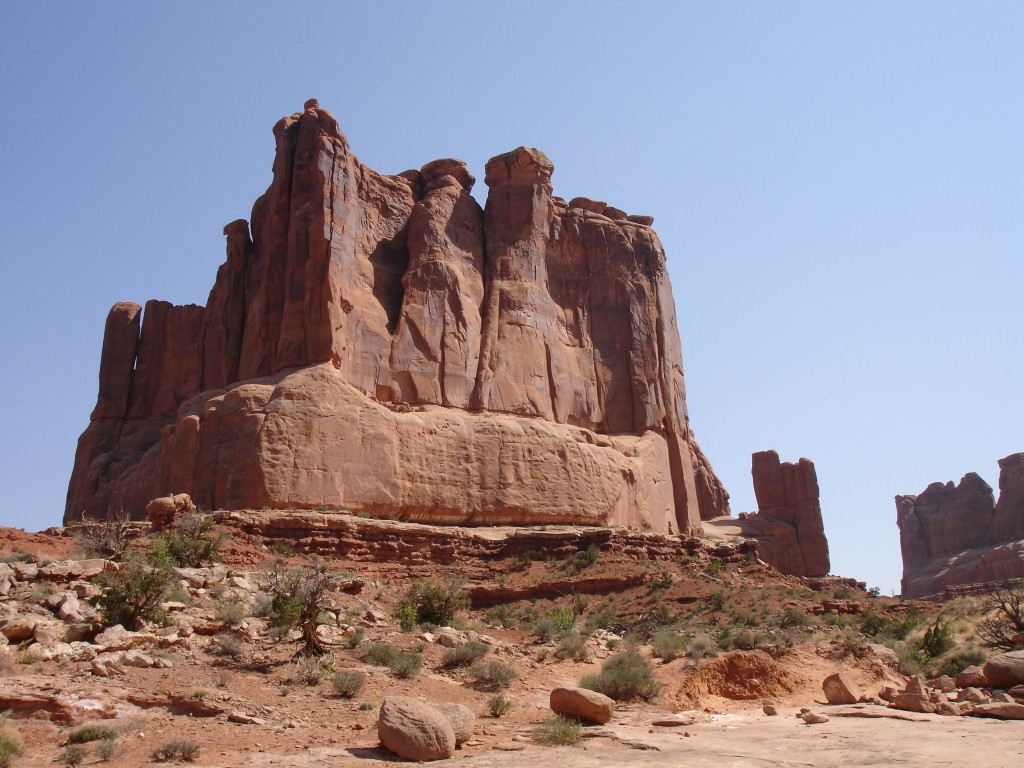 Butte at the end of Park Avenue