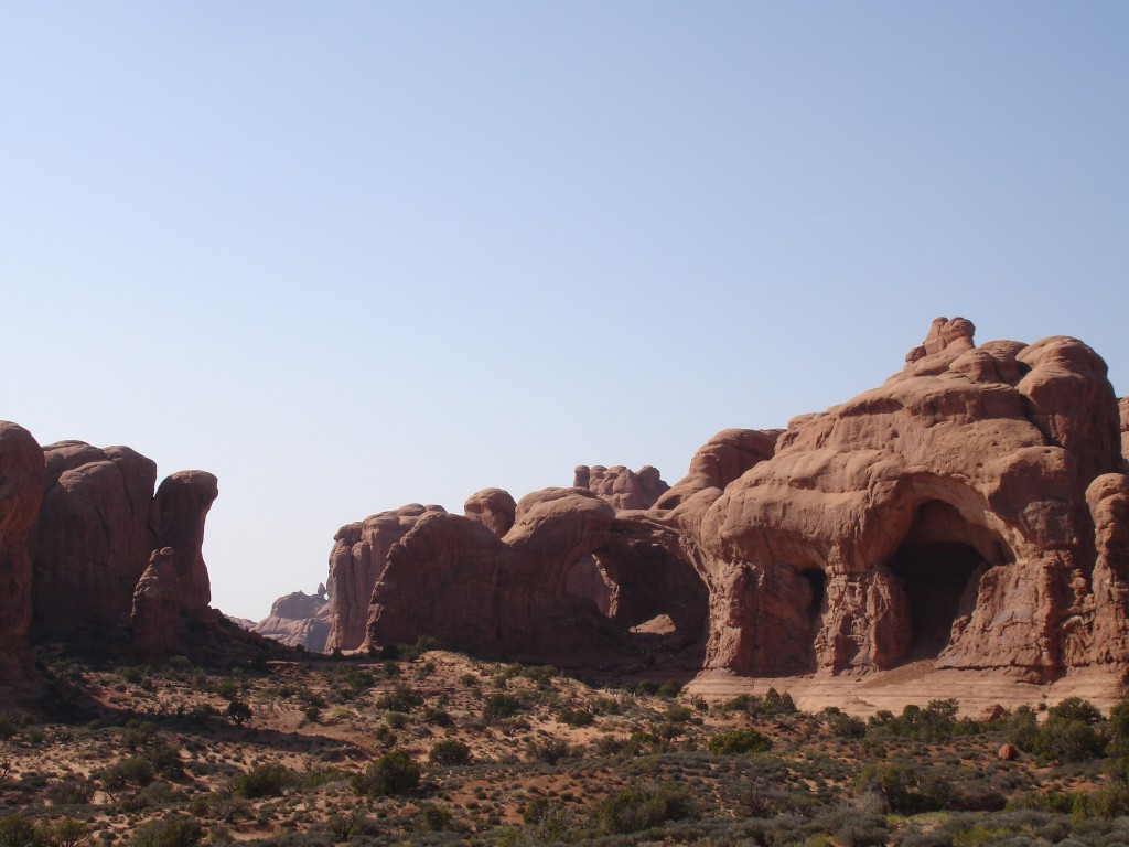 Rock formations at the Windows Section