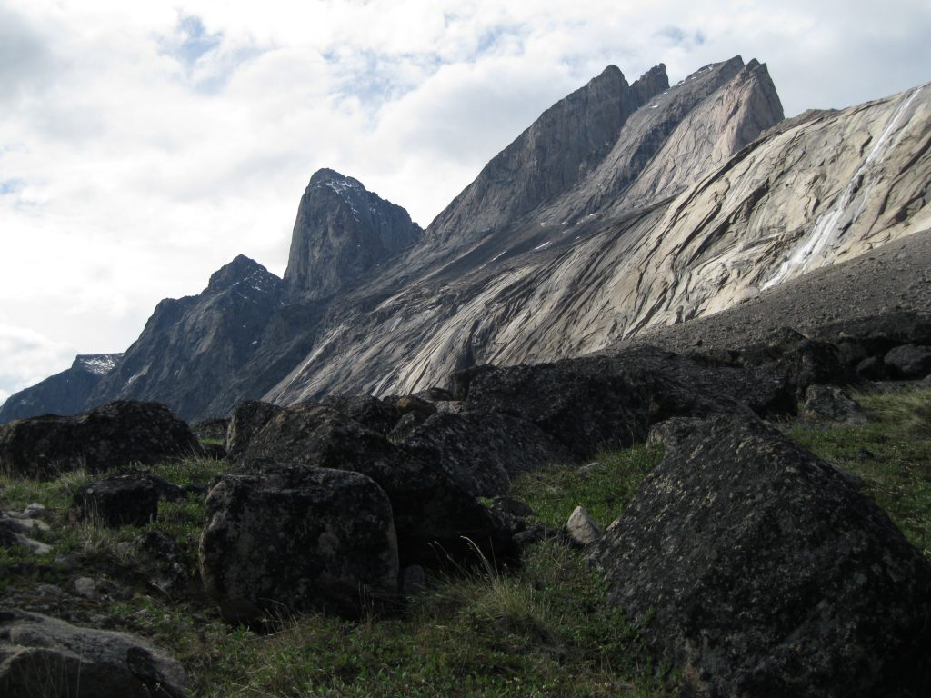 Mount Northumbria fronted by boulders
