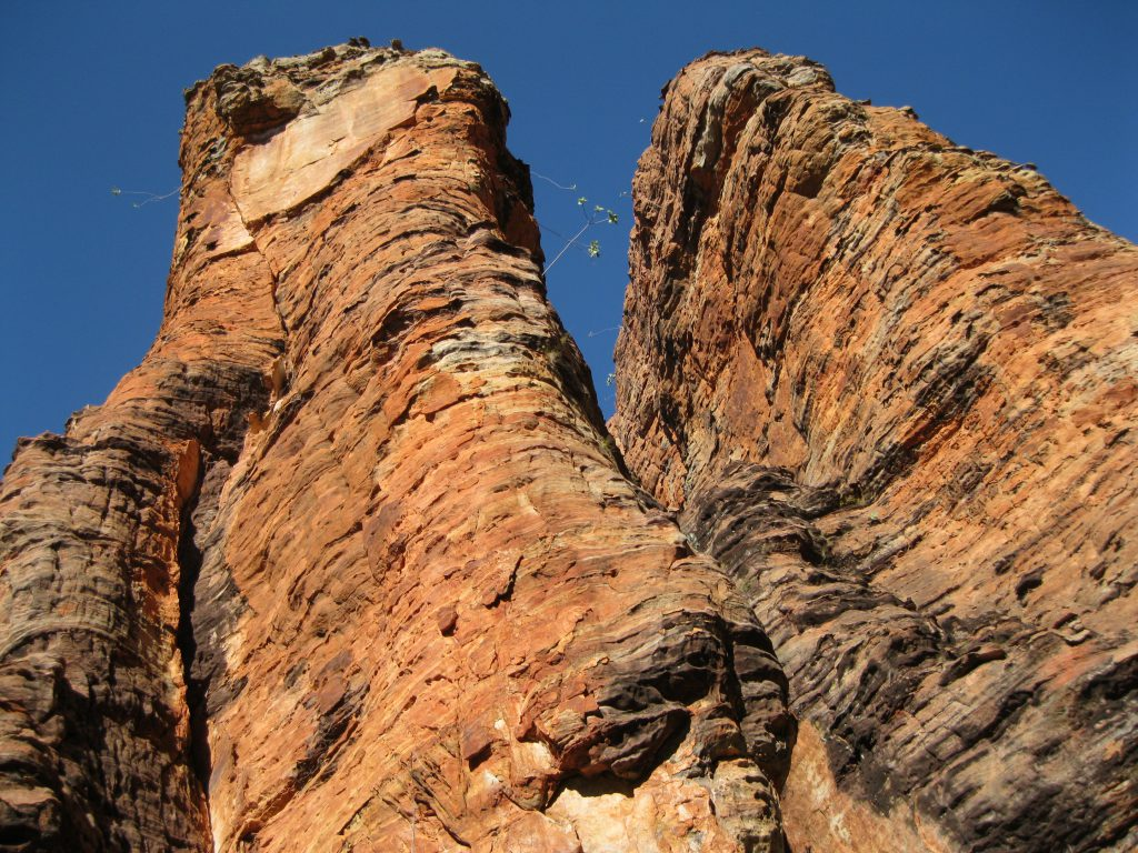 The top of massive rock formations at the Loop Walk in the Southern Lost City
