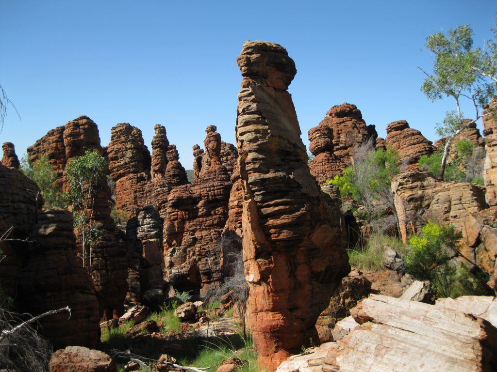Rock formation close to the ridge at at the Loop Walk in the Southern Lost City