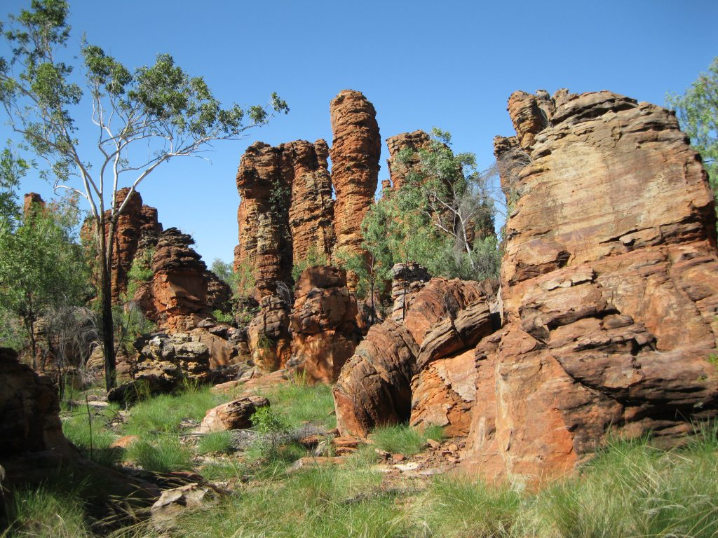 Rock formations at the Loop Walk in the Southern Lost City
