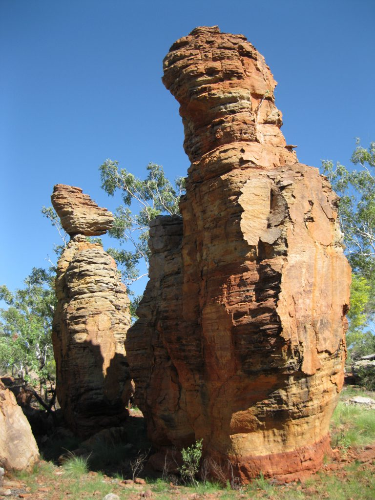 Rock pillars at the Loop Walk in the Southern Lost City